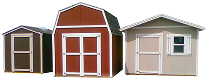 Apex three storage sheds