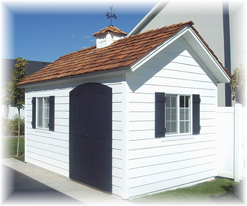 Apex custom storage shed with carriage door and hardie plank siding. & Custom Sheds