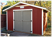 Standard Aped Shed with Double Door and overhang