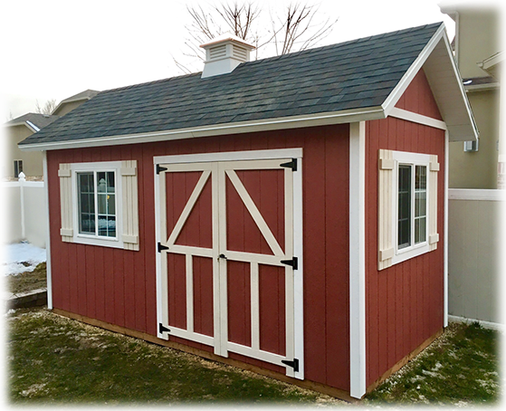 Salt Lake City Utah Custom Storage Shed With Cupola