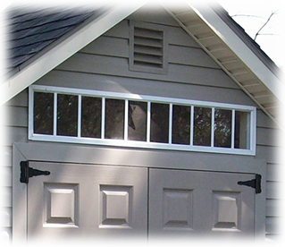 Transom Window Above Door On Storage Shed In Utah