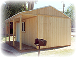 Tack Style Storage shed Cabin